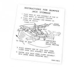 Jack Instructions Decal - C2AB-17093-A