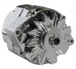 65-93 Chrome Alternator Internally Regulated, 100 Amp