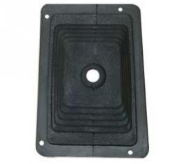 Floor Shift Lever Boot - Rectangular - Rubber - For 4-Speed With Console