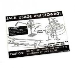 Jack Instructions Decal - C8AB-17095-A