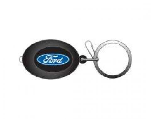 Ford Key Chain,Oval,Lighted,With Ford Blue Oval Logo