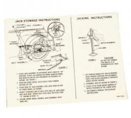 Jack Instruction Decal, Station Wagon, Comet, 1966-1967