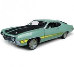 Torino Model, W/ Laser Stripe, Green, 1:18 Scale, 1971