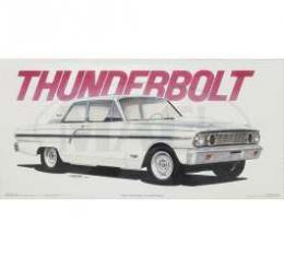 Jim Gerdom Signed & Numbered Print, Ford Thunderbolt, 1964