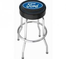 Ford Stool,Garage With Ford Blue Oval Logo