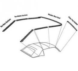 Convertible Roof Rail Seal Set - With Header Bow Seal