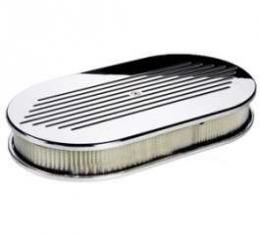 Ball Milled Oval Air Cleaner (4V)