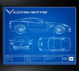 C7 Corvette Framed Blueprint