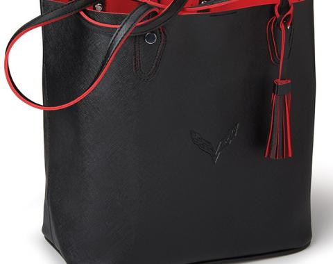 Corvette C7 Black & Red Tote Bag