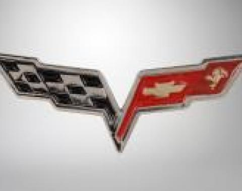 Corvette Lapel Pin, C6 Corvette Crossflags, 2005-2013