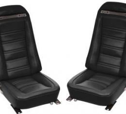 Corvette America 1973-1974 Chevrolet Corvette Driver Leather Seat Covers Leather/Vinyl 480920 | 59-96 Black