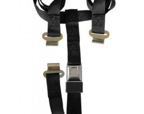 Corvette T-Top & Luggage Strap, Black, 1968-1982