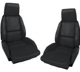 Corvette America 1984-1988 Chevrolet Corvette Driver Leather Seat Covers Standard No Perforations 483620 | 59-96 Black
