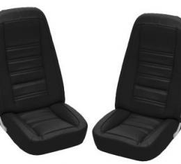 Corvette America 1976-1978 Chevrolet Corvette Driver Leather Seat Covers Leather/Vinyl 481120 | 59-96 Black