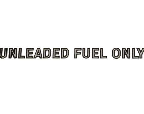 Corvette Decal, Fuel Warning Silver, 1978-1982