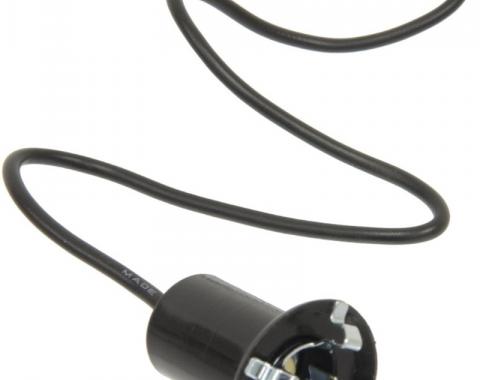"Corvette Instrument Panel Bulb Socket, 5/8"" Hole, 1 Wire, 1953-1976"
