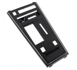 Corvette Shifter Console Trim Plate, With Power Windows & Rear Defroster, Late 1980-1982