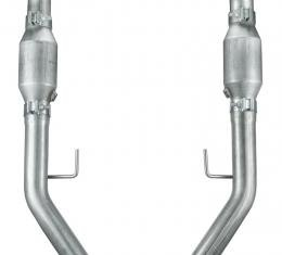 Pypes Mustang Exhaust H Pipe For Short Tube Headers Catted 2.5 Inch H-Pipe For 05-10 Mustang GT Hardware Incl Natural 409 Stainless Steel Exhaust HFM26E