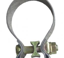Pypes Exhaust Muffler Band Clamp 2.5 in x 1 in Natural 304 Stainless Steel Exhaust HVC21