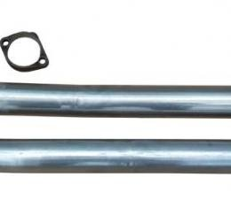 Pypes Exhaust Manifold Down Pipe 2.5 in w/HO Or Ram Air 2/3 Bolt Flanges Hardware Not Incl Natural 409 Stainless Steel Exhaust DGA20S23