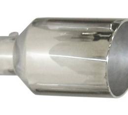 Pypes Exhaust Tail Pipe Tip 5 in ID x 10 in OD x 18 in L Bolt On Hardware Not Incl Polished 304 Stainless Steel Exhaust EVT510