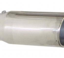 Pypes Exhaust Tail Pipe Tip 2.5 in ID x 5 in OD x 18 in 5 in Tip Bolt On Hardware Not Incl Polished 304 Stainless Steel Exhaust EVT255