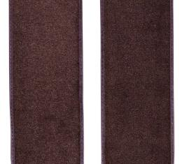 ACC  Ford F-100 Door Panel Inserts with Cardboard 2pc Loop Carpet, 1973