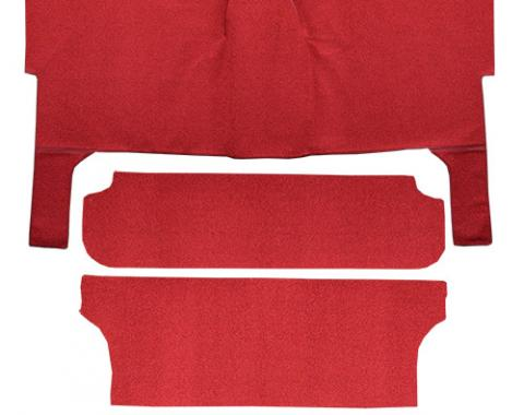 Chevrolet Nomad Bench Seat Complete Loop Carpet, Red, 1955