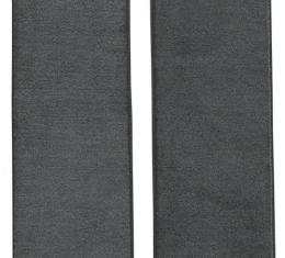 ACC  Dodge D200 Pickup Door Panel Inserts with Cardboard 2pc Loop Carpet, 1972-1973
