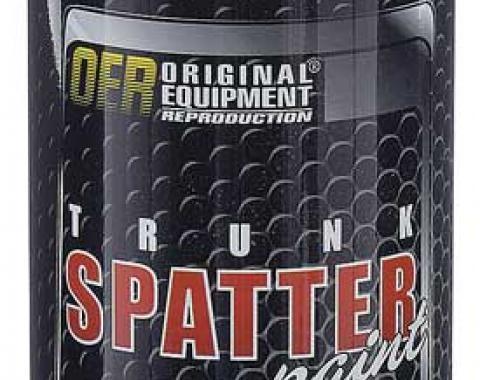 OER Black and Aqua Trunk Spatter Paint 11 Oz. Net Weight K51499
