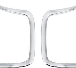 """OER 1968-69 Dodge Charger, Front Grill Outer """"C"""" Moldings, Pair MB184619"""