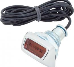OER 1968-76 Mopar A/B/E-Body, Reverse Indicator Light with Cable, Dash Mounted, For 4-Speed Models MD47301