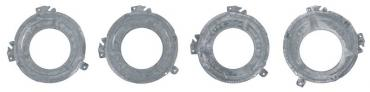 OER 1971-74 Mopar Headlamp Bucket Set Inner and Outer LH and RH Sides - Set of Four *MD9501