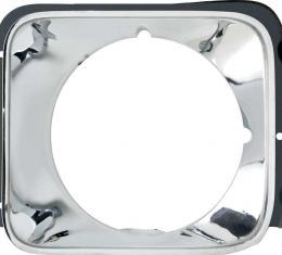 OER 1976 Nova Concours Chrome Headlamp Bezel, LH 368111