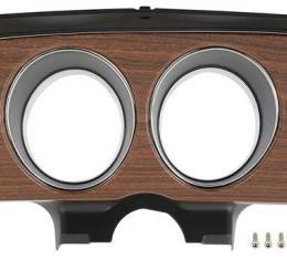 OER 1970 Mustang Deluxe Instrument Gauge Bezel - Woodgrain 10838QW