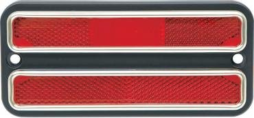 Chevy Or GMC Truck Rear Side Marker Light, Red, With Chrome Bezel, 1968-1972