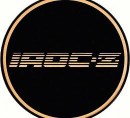 "OER 2-1/8"" GTA Wheel Center Cap Emblem with Gold IROC-Z Logo and Black Background K151769GD"