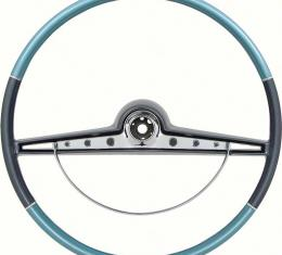 OER 1963 Impala Steering Wheel with Horn Ring - Standard and SS - Two Tone Blue 5730130
