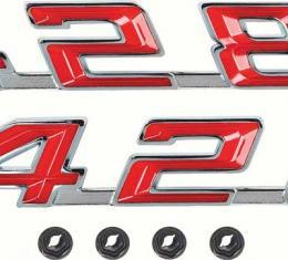 """OER 1967-69 Firebird """"428"""" Hood Emblems F1250"""