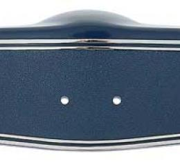 OER 1969-70 Steering Wheel Shroud Dark Blue with Chrome Hot Stamp 3961774HS