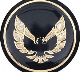 OER 1976-81 Firebird Shift Button Emblem-Black With Gold K7803