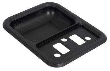 OER 1967-72 Ford F100, F250, F350, 1978-79 Bronco, Door Panel Arm Rest Cup, Black TR24142B
