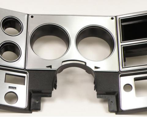 Chevy Truck Dash Bezel, without Air Conditioning, Brushed Aluminum, 1978-1980