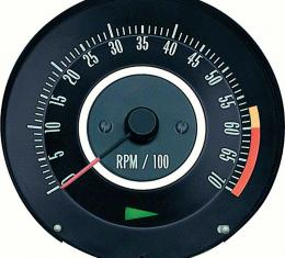 OER 1967 Camaro Z28 or 396/375HP Tachometer with 6000 Red Line 6468911