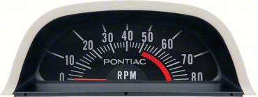 OER 1969 Pontiac Hood Tach 5200 Red Line - V8 Point Ignition 6468974