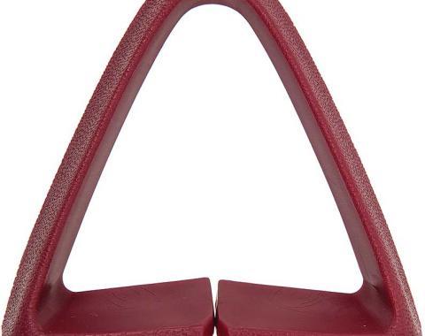 Camaro Shoulder Seat Belt Retainer Guide, Red, 1973-1981
