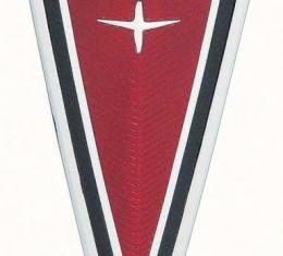 OER 1977-81 Firebird Red Front End Crest Emblem 499724