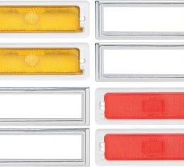 OER 1970-74 Nova Side Marker/Bezel Kit (Amber/Red) *N5028