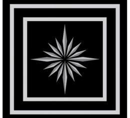 "OER 1968-69, Seat Belt Emblem Set, 7/8"" x 7/8"", Standard Interior, Pair, Silver-on-Black 154660BK"