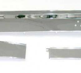 OER 1967-68 Mustang Deluxe Instrument Panel Trim Set Chrome Plated 3-Piece DTK-3